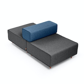 Dark Gray + Dark Blue Block Party Lounge Back it Up Chair
