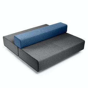 Dark Gray + Dark Blue Block Party Lounge Back it Up Sofa