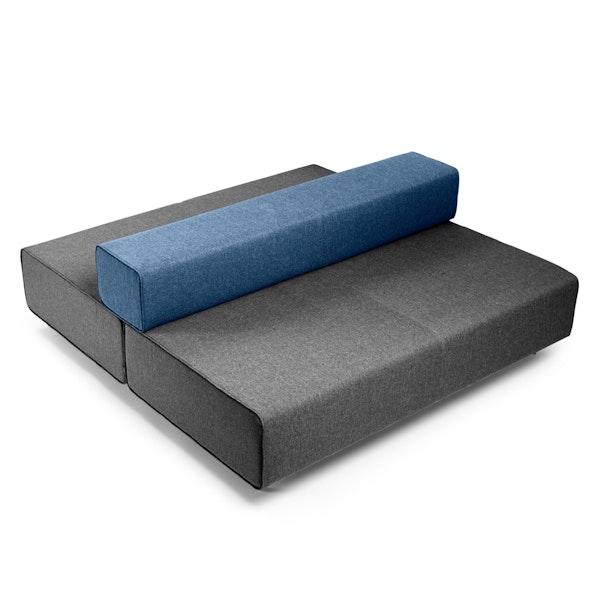Dark Gray + Dark Blue Block Party Lounge Back it Up Sofa,Dark Gray,hi-res