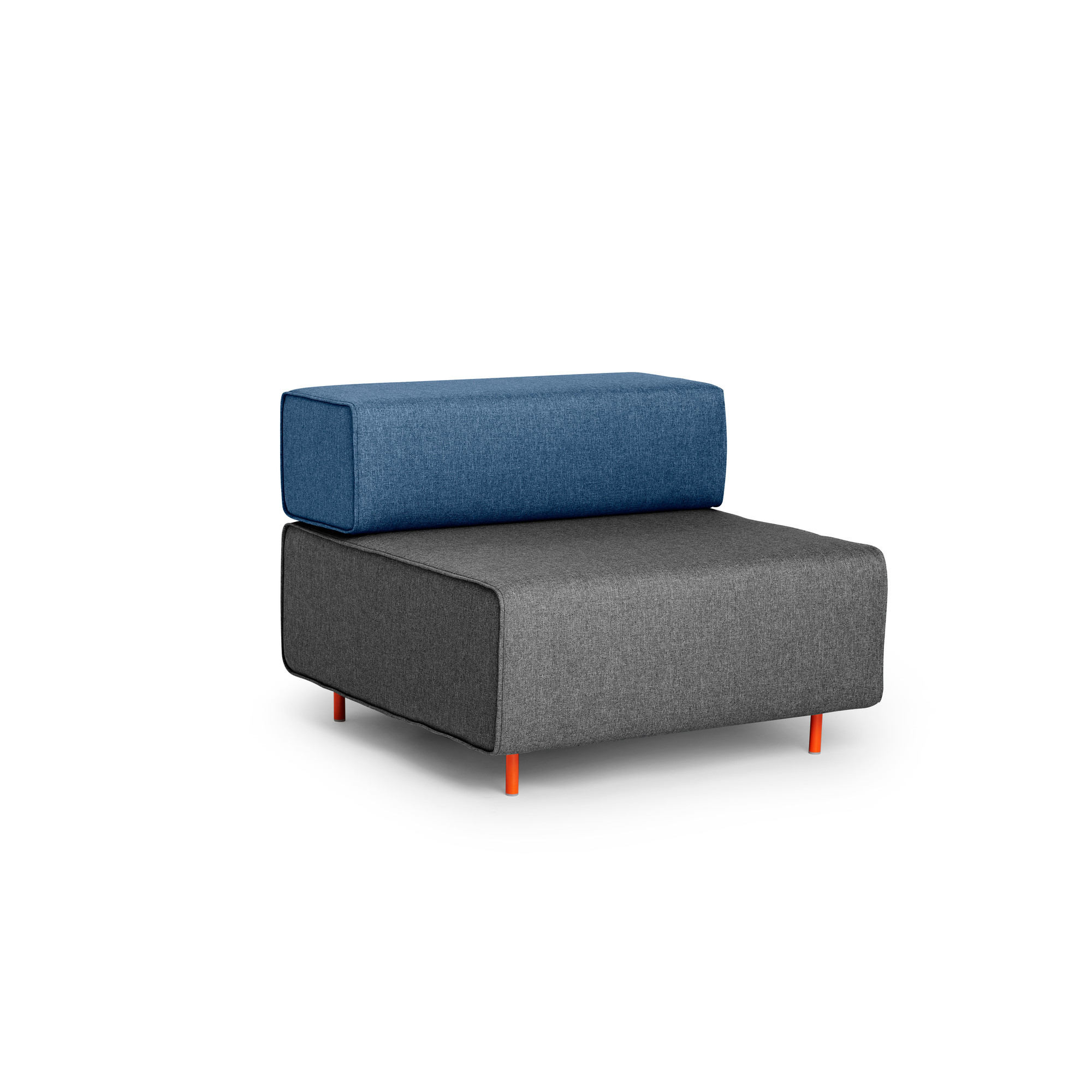 Dark Gray + Dark Blue Block Party Lounge Chair,Dark Gray,hi Res
