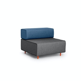 Dark Gray + Dark Blue Block Party Lounge Chair,Dark Gray,hi-res
