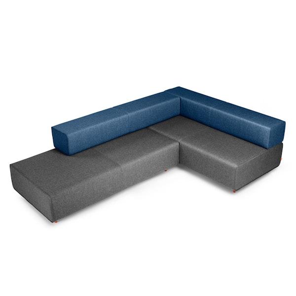 Dark Gray + Dark Blue Block Party Lounge Corner Office,Dark Gray,hi-res