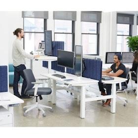 Loft Adjule Height Standing Double Desk For 2 White 57