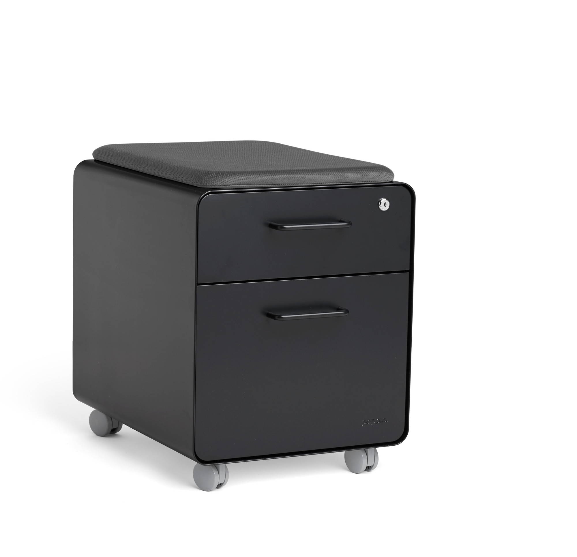 Black Mini Stow 2-Drawer File Cabinet, Rolling | 2-Drawer File ...