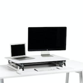 White Medium Peak Adjustable Height Standing Desk Riser,White,hi-res
