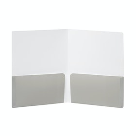 Blush + Light Gray 2-Pocket Poly Folder