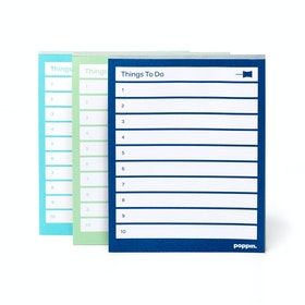 Assorted Task Pads, Set of 3, Aqua/Mint/Navy