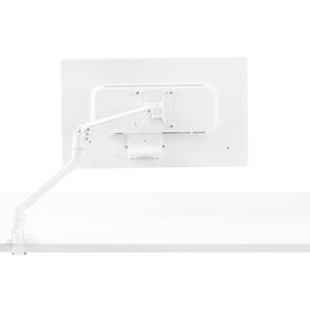 White Swing Single Monitor Arm