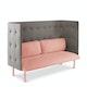 Blush + Gray QT Lounge Sofa,Blush,hi-res