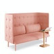 Blush QT Lounge Sofa,Blush,hi-res