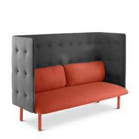 Brick + Dark Gray QT Privacy Lounge Sofa