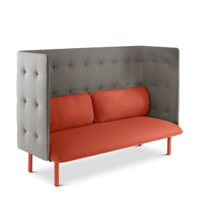 Brick + Gray QT Privacy Lounge Sofa