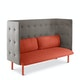 Brick + Gray QT Lounge Sofa,Brick,hi-res