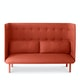 Brick + Dark Gray QT Lounge Sofa,Brick,hi-res