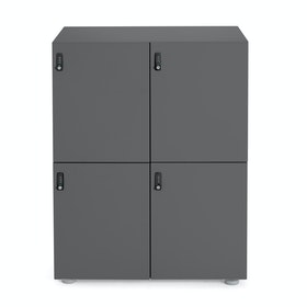 Charcoal Stash 4-Door Locker,Charcoal,hi-res