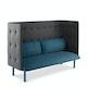 Dark Blue + Dark Gray QT Lounge Sofa,Dark Blue,hi-res