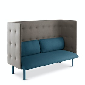 Dark Blue + Gray QT Privacy Lounge Sofa
