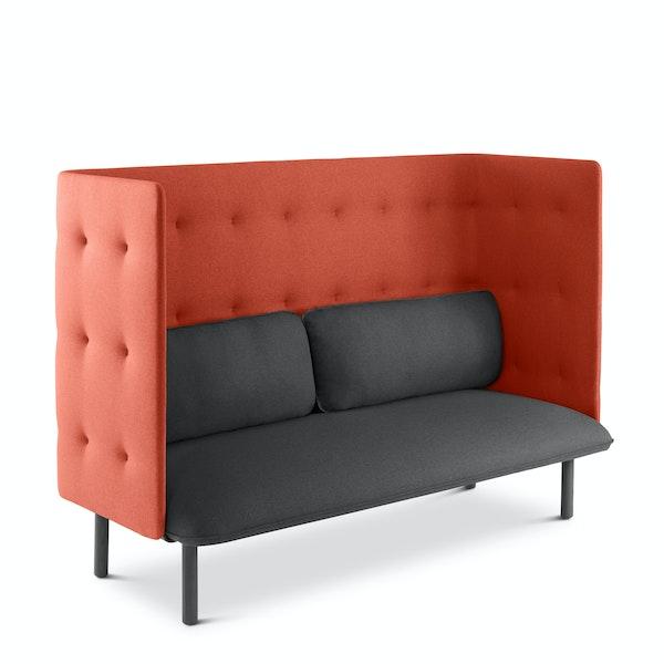 Dark Gray + Brick QT Lounge Sofa,Dark Gray,hi-res