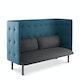 Dark Gray + Dark Blue QT Lounge Sofa,Dark Gray,hi-res
