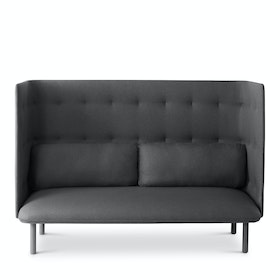 Dark Gray + Brick QT Lounge Sofa