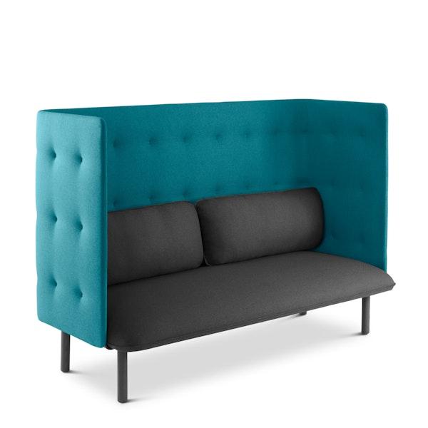 Dark Gray + Teal QT Lounge Sofa,Dark Gray,hi-res