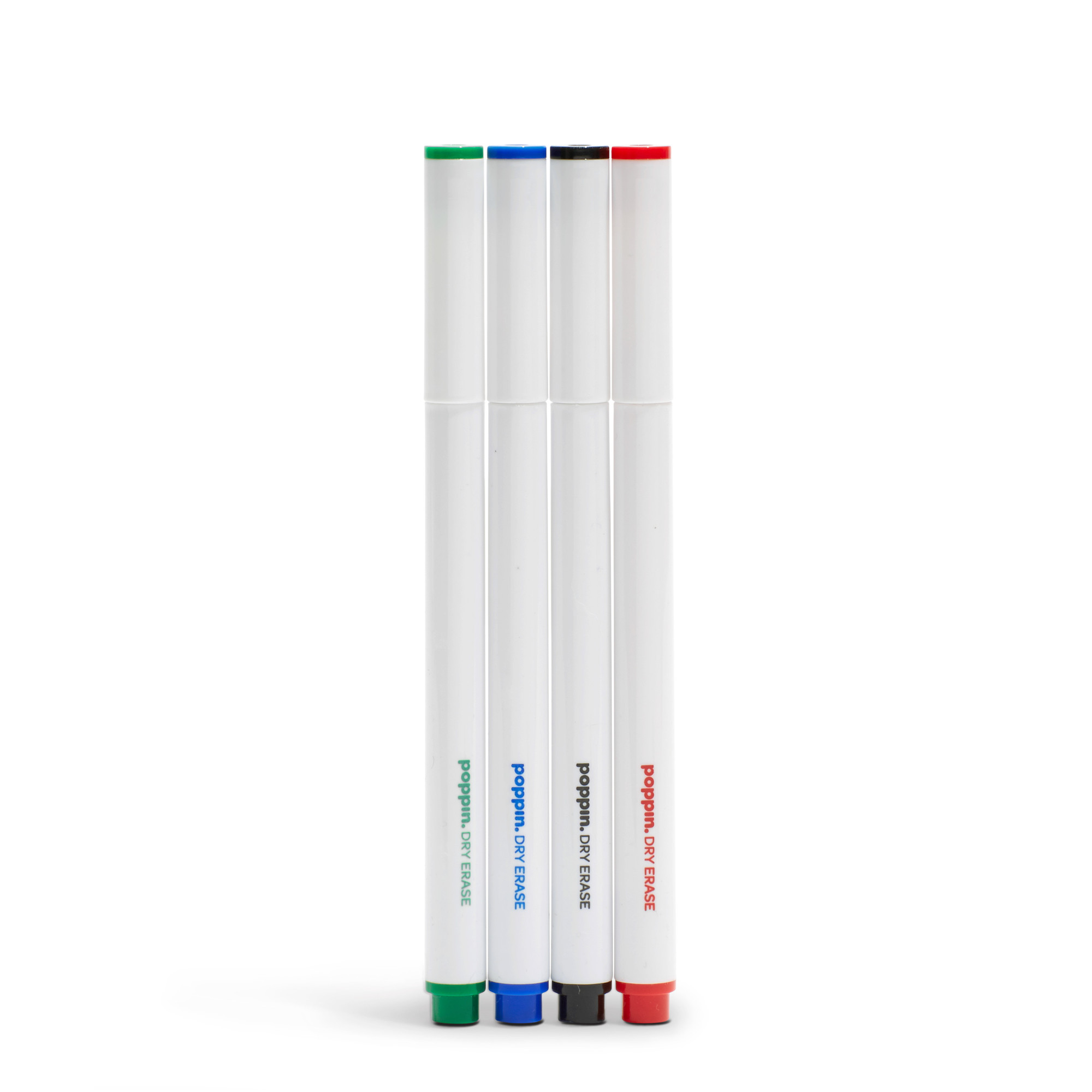 slim dry erase markers set of 4 small space organization poppin