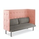 Gray + Blush QT Lounge Sofa,Gray,hi-res