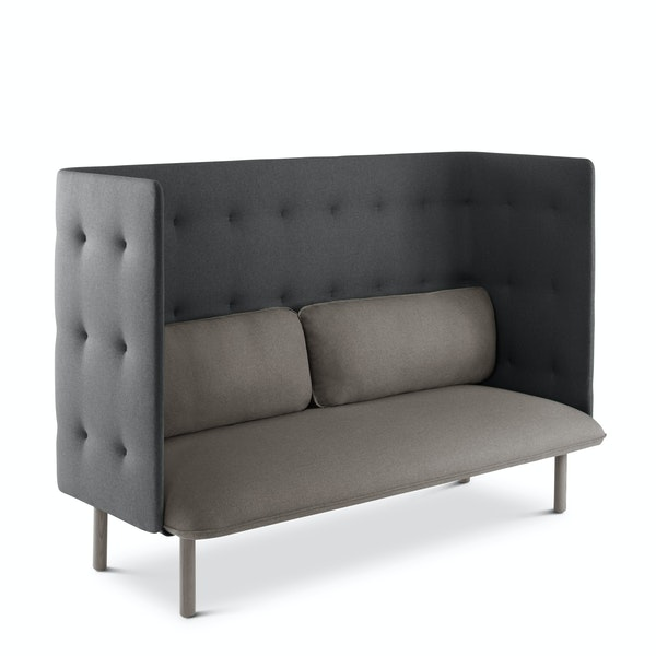 Gray + Dark Gray QT Lounge Sofa,Gray,hi-res