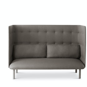 Gray + Blush QT Lounge Sofa