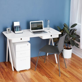 Light Gray Key Desk Add-On Drawer,Light Gray,hi-res