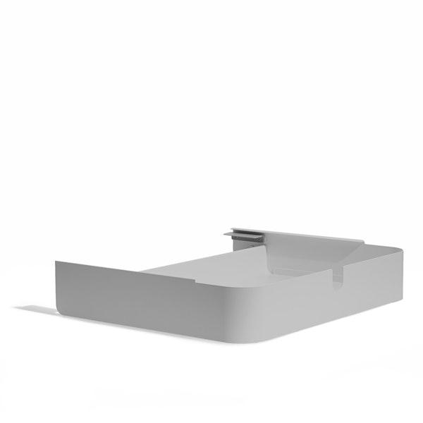 Light Gray Key Desk Add-On Drawer,Light Gray,hi-res