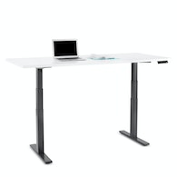 Series L Adjustable Height Table, Charcoal Legs,White,hi-res