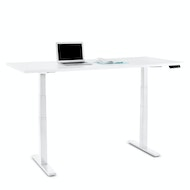Series L Adjustable Height Table, White Legs,,hi-res