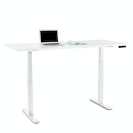 Series L Adjustable Height Table, White Legs,White,hi-res