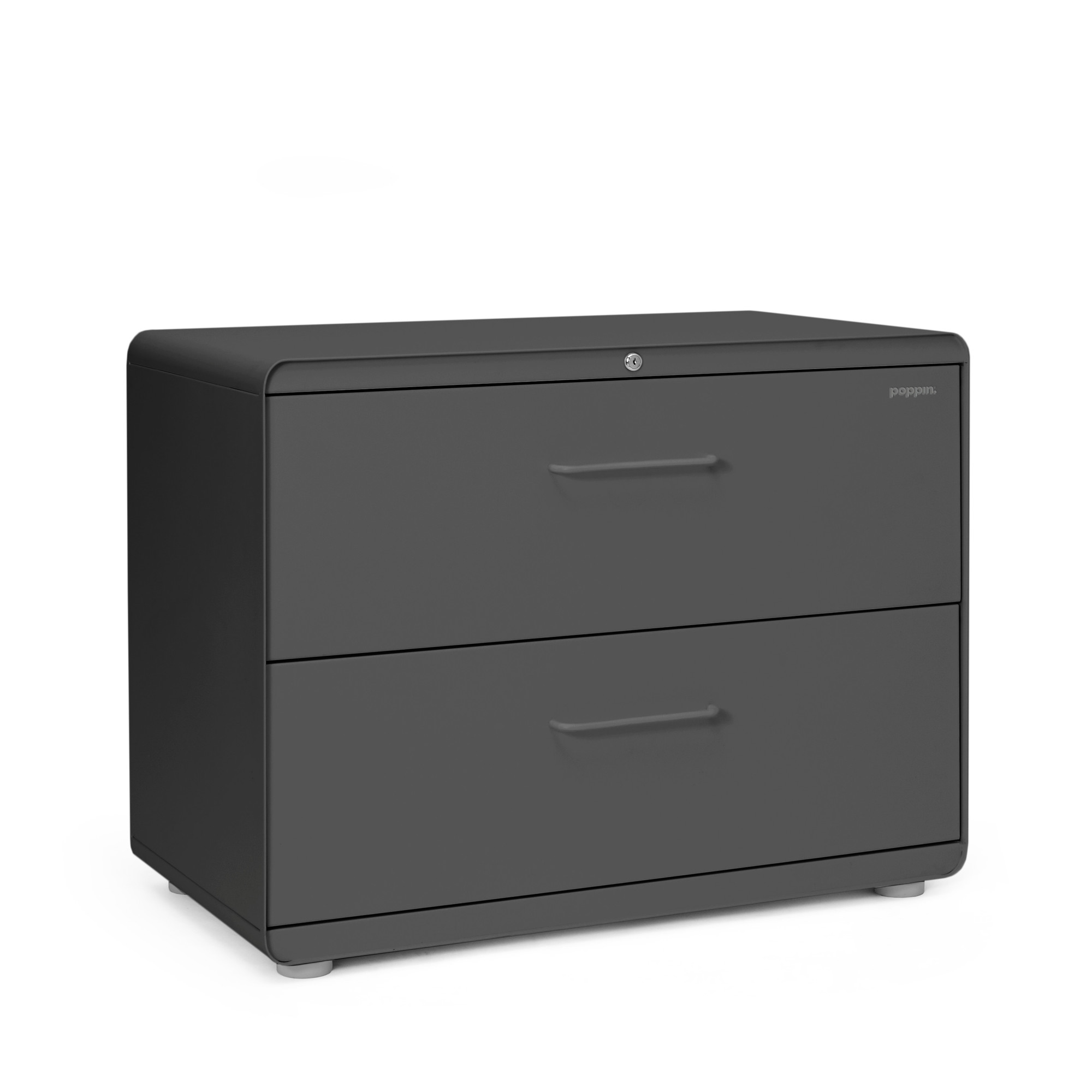 Charcoal Stow 2 Drawer Lateral File Cabinet,Charcoal,hi Res. Loading Zoom
