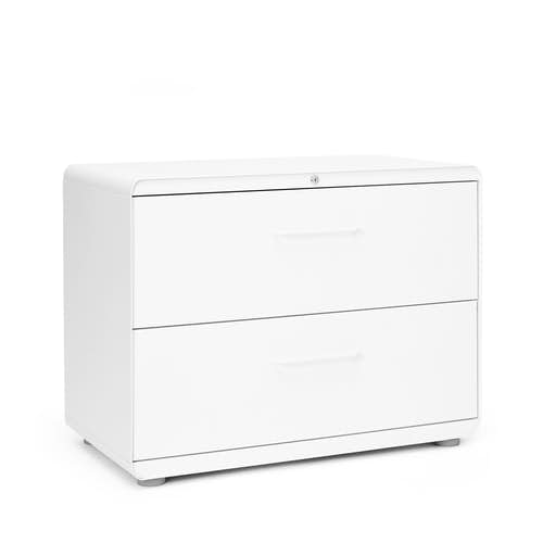 White Stow 2 Drawer Lateral File Cabinet