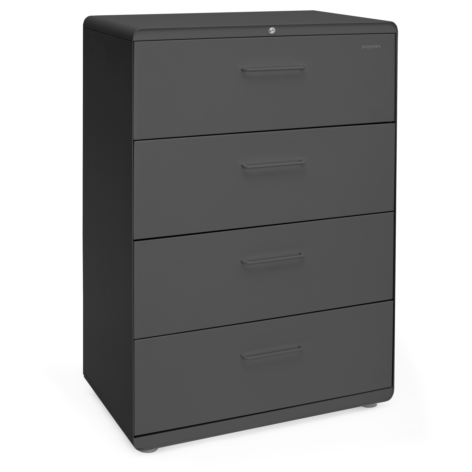 Attractive Charcoal Stow 4 Drawer Lateral File Cabinet,Charcoal,hi Res. Loading Zoom