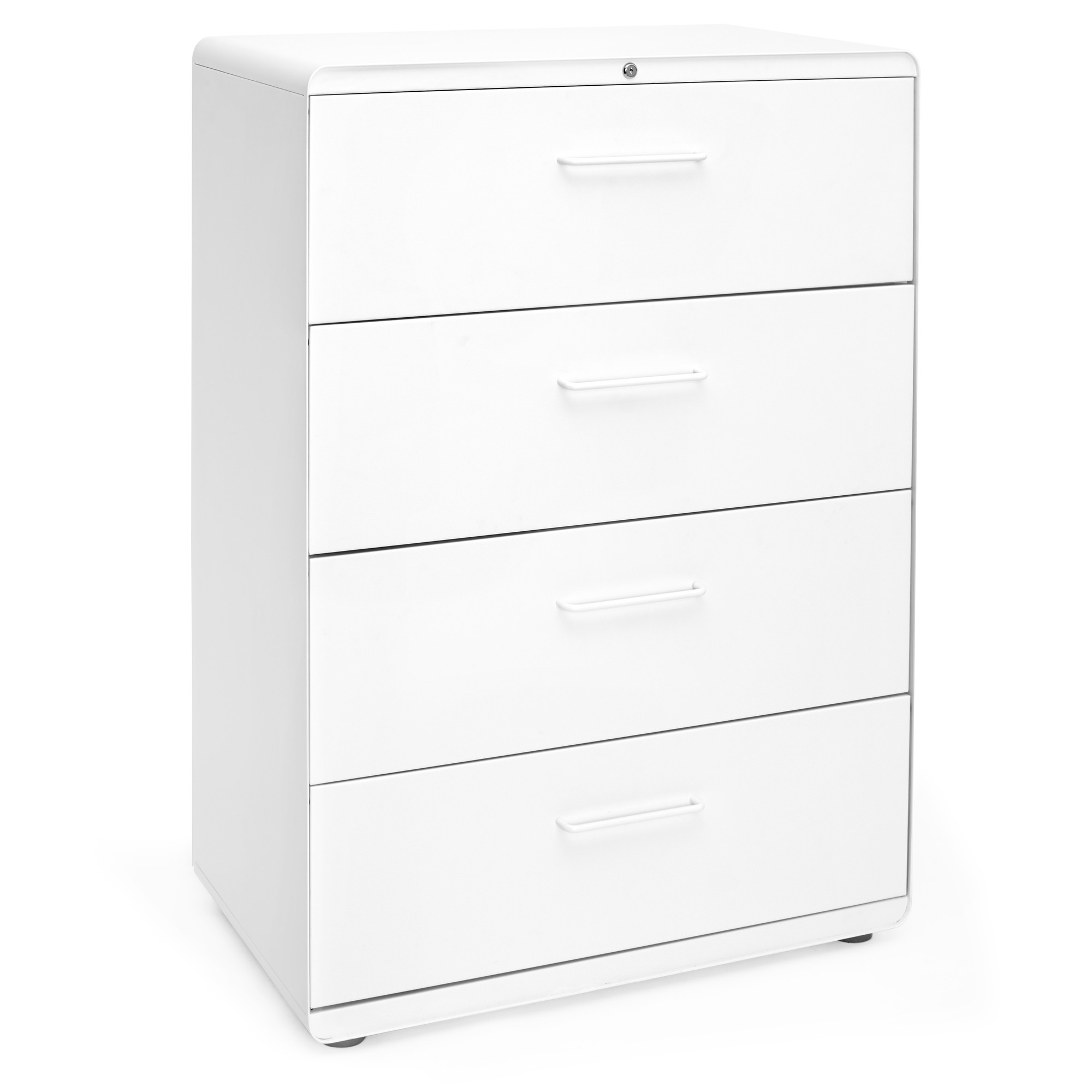 Images. White Stow 4 Drawer Lateral File Cabinet ...