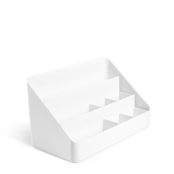 White Large Desk Organizer,White,hi-res