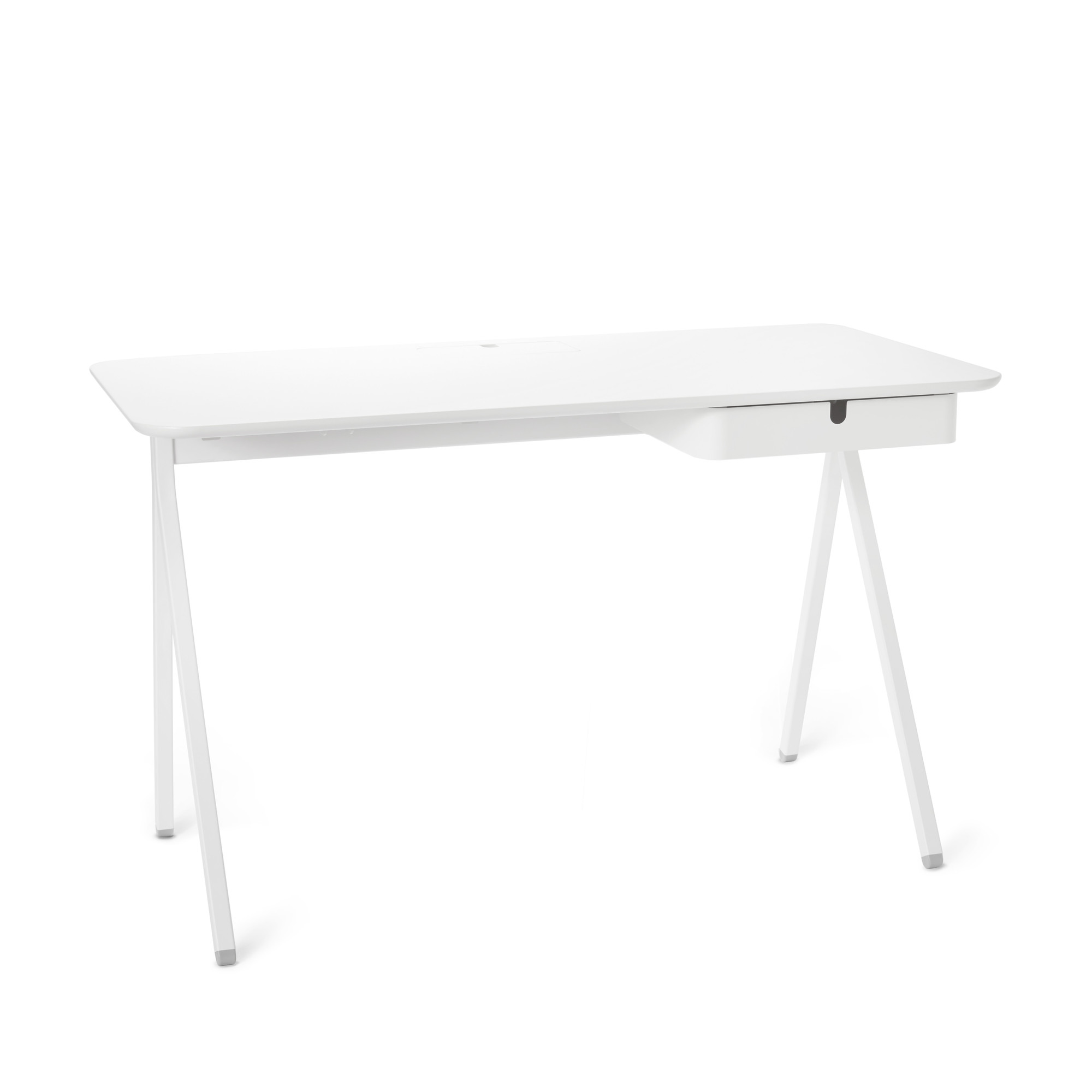 White Key Desk | Modern Office And Home Furniture | Poppin