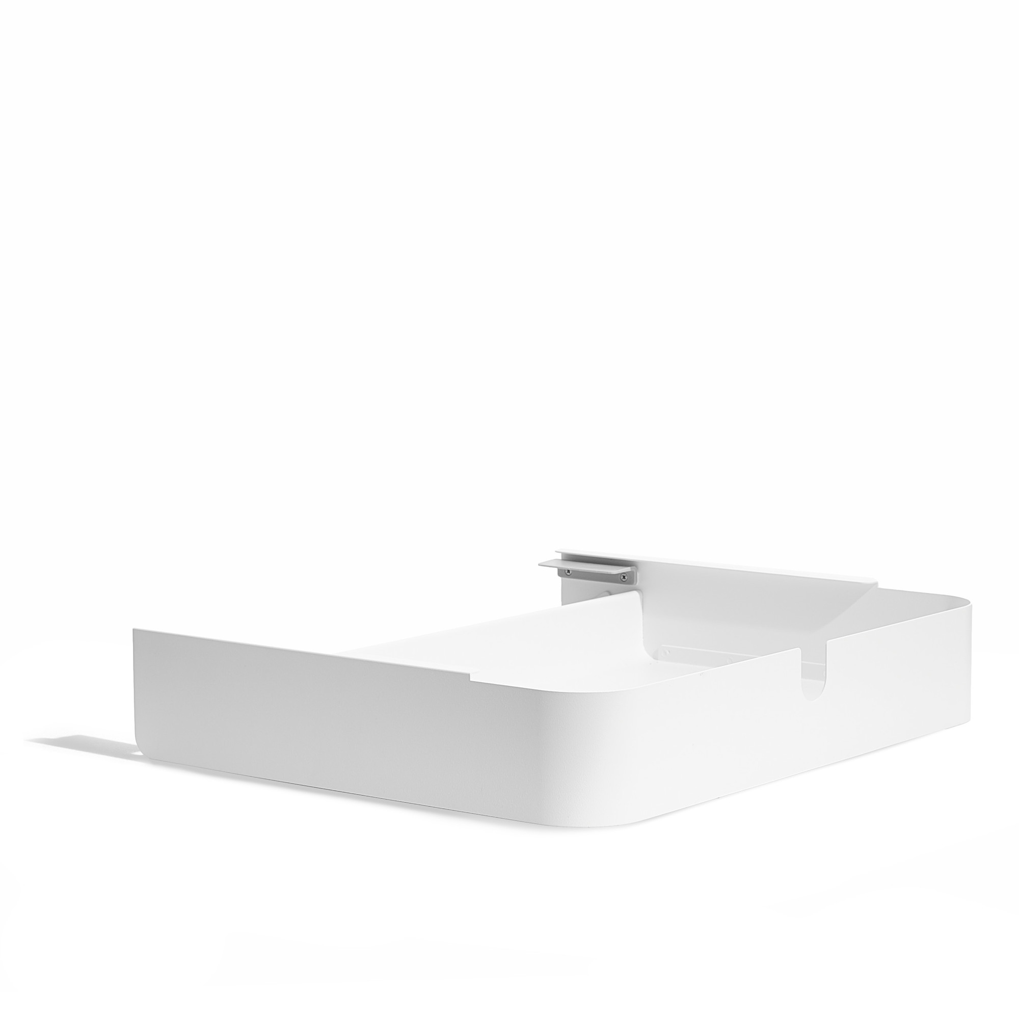 White Key Desk Add On Drawer Modern Office And Home Furniture
