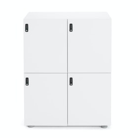 White Stash 4-Door Locker