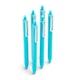 Aqua Retractable Gel Luxe Pens w/ Blue Ink, Set of 6,Aqua,hi-res