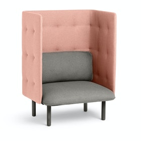 Gray + Blush QT Privacy Lounge Chair