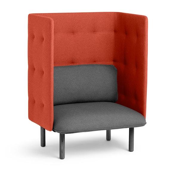 Dark Gray + Brick QT Privacy Lounge Chair,Dark Gray,hi-res