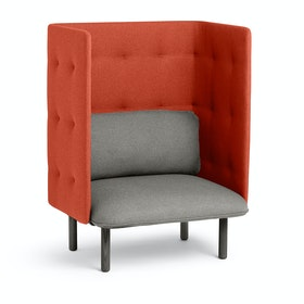 Gray + Brick QT Privacy Lounge Chair,Gray,hi-res