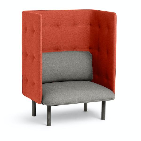 Gray + Brick QT Privacy Lounge Chair,Gray,hi-res
