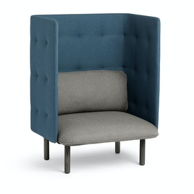 Gray + Dark Blue QT Privacy Lounge Chair