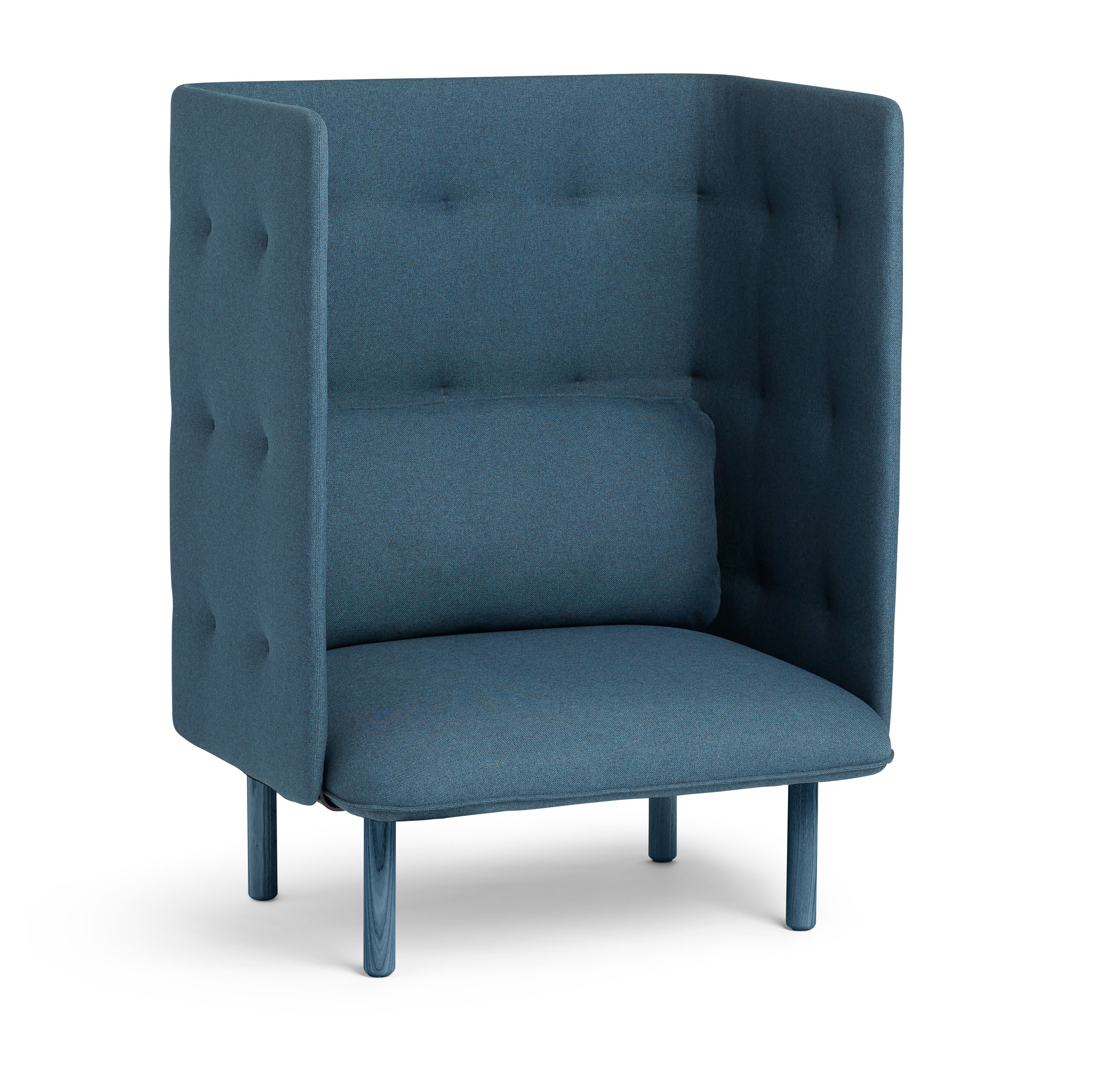 Exceptionnel Dark Blue QT Privacy Lounge Chair,Dark Blue,hi Res