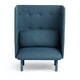 Gray + Dark Blue QT Privacy Lounge Chair,Gray,hi-res
